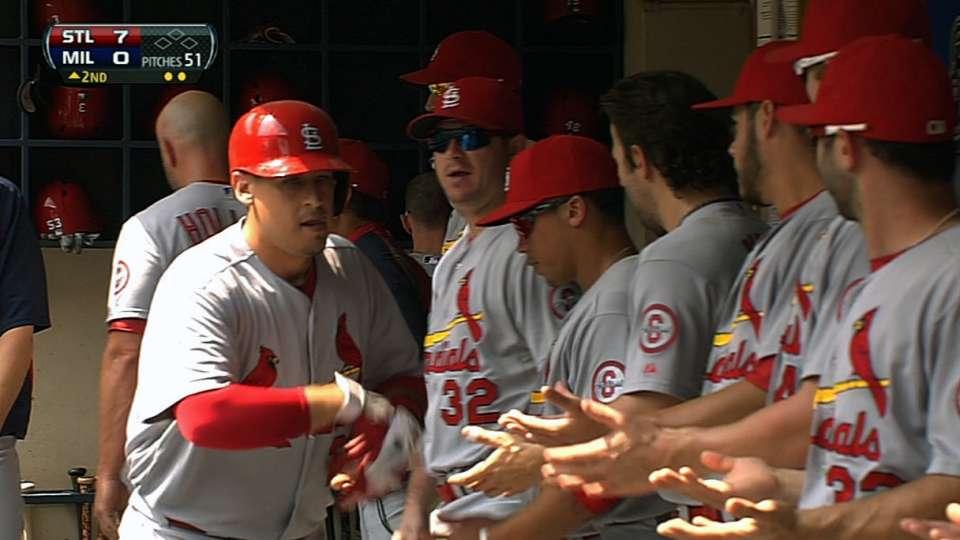 Cardinals' six-run second