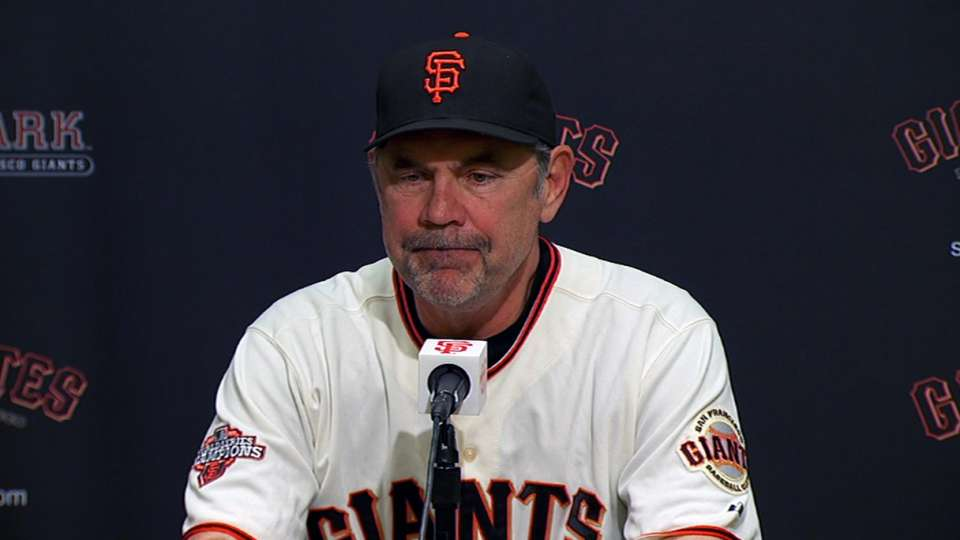 Bochy on Giants' mental mistakes
