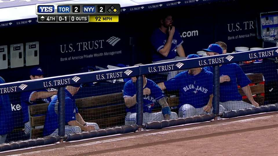 Blue Jays duck for cover