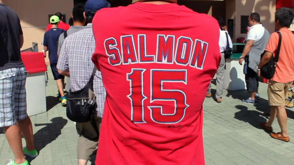 Fans on Salmon's debut