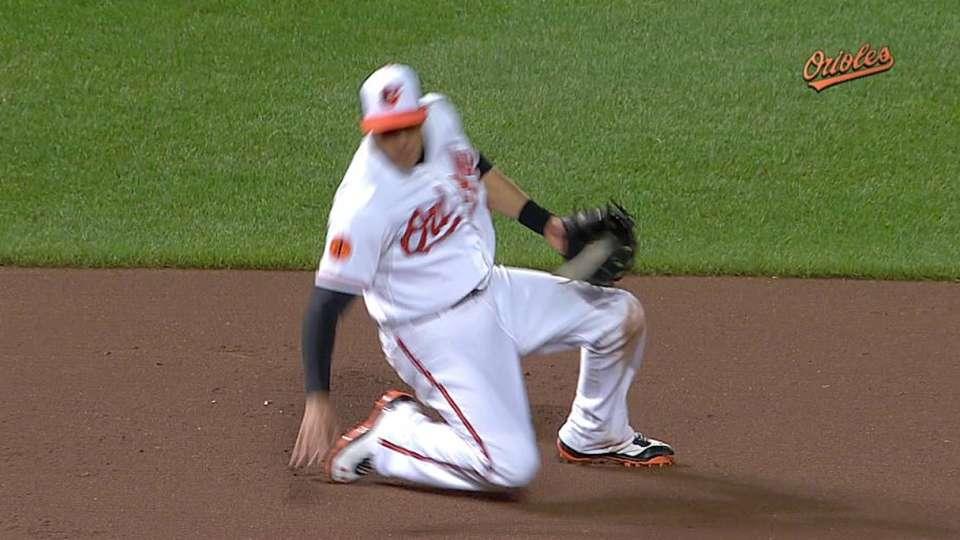 Machado's slick play