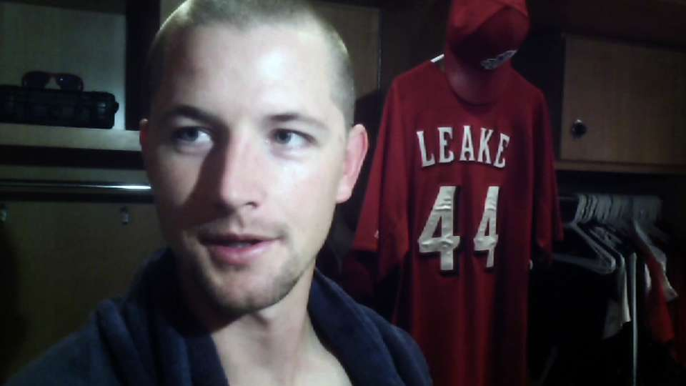 Leake on wild win