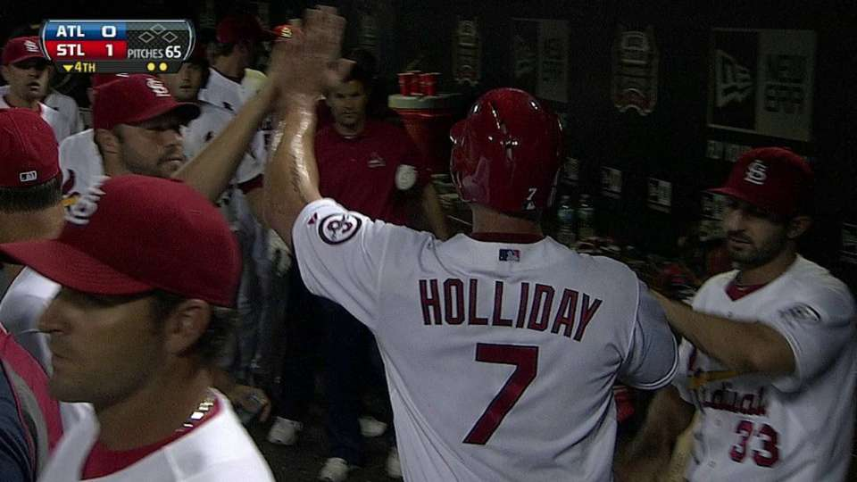 Holliday comes home