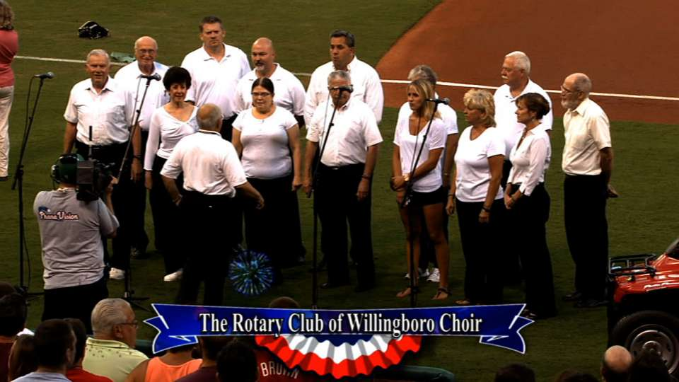 Rotary Club performs the anthem