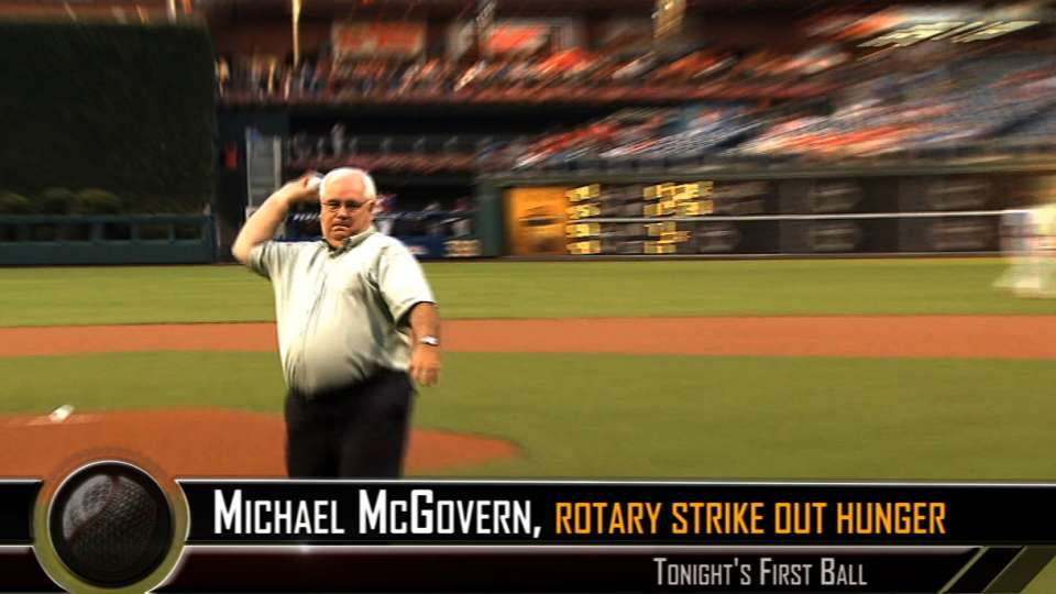 McGovern throws out first pitch