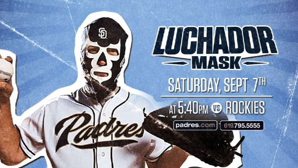 Padres luchador mask night, 9/7