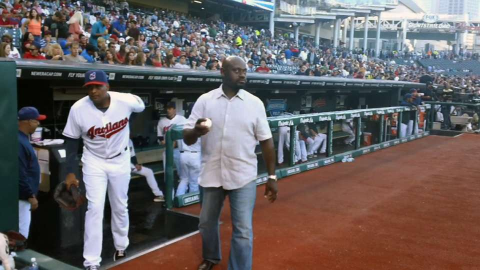 Marquis Grissom's first pitch