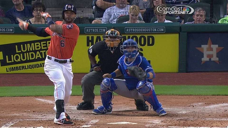 Villar's first career triple
