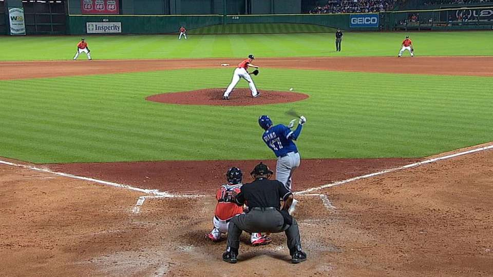 Goins' first career hit