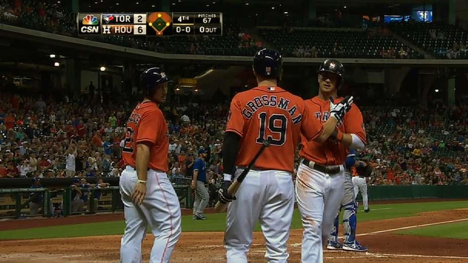 Astros' five-run fourth