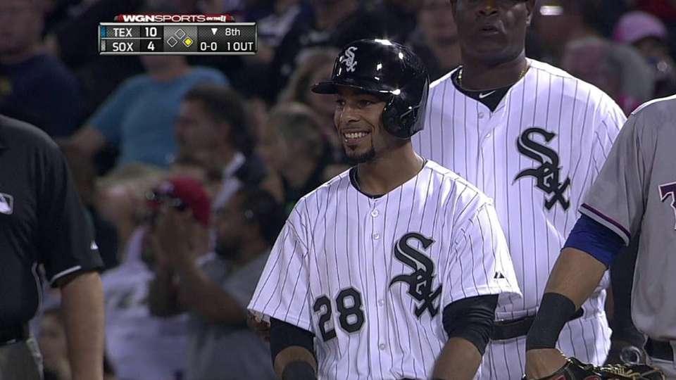L. Garcia's first White Sox hit