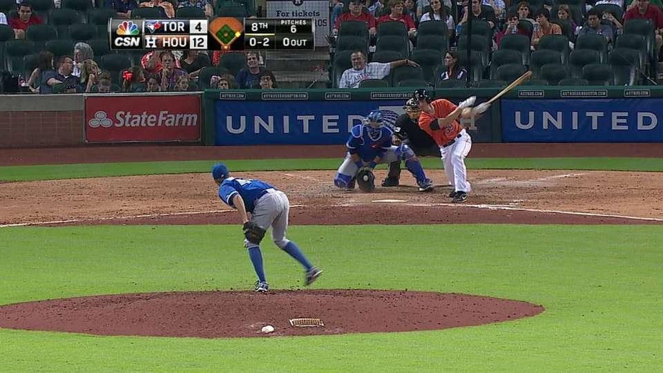 Clark's first career at-bat