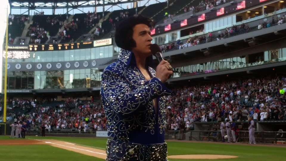 Andrus enjoys Elvis Presley