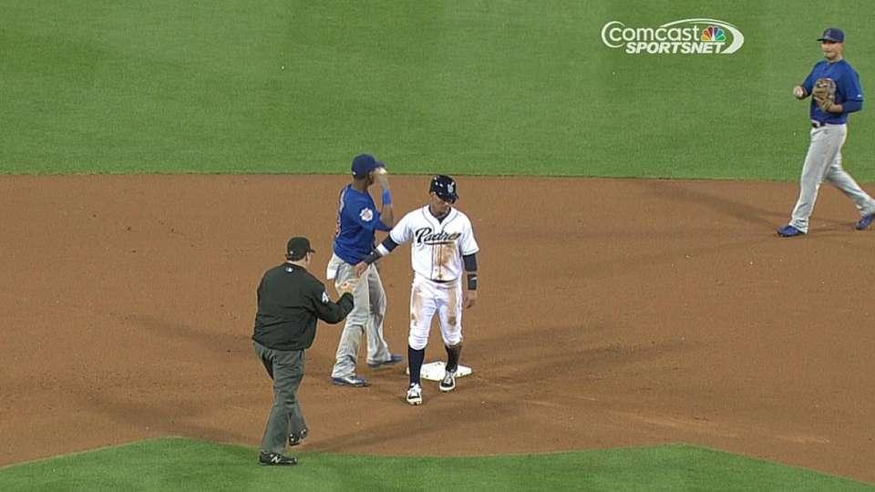 Russell picks off Cedeno