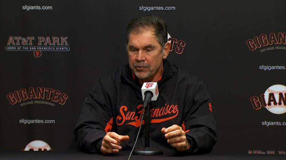 Bochy on lack of execution