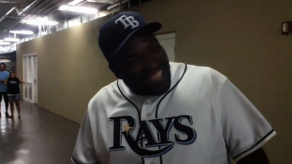 Sapp on his first pitch