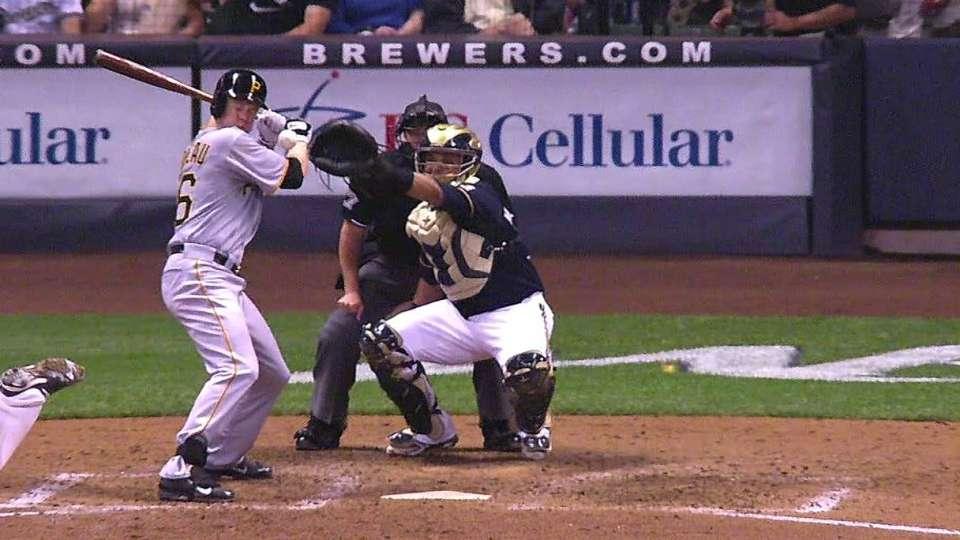 Morneau hit by pitch