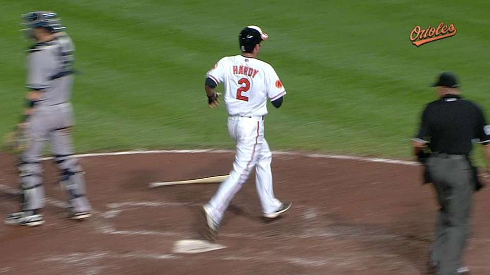 Hardy scores tying run on error