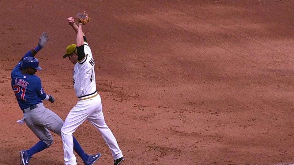 Morneau's leaping play