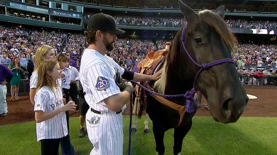 Helton celebrated at Coors Field