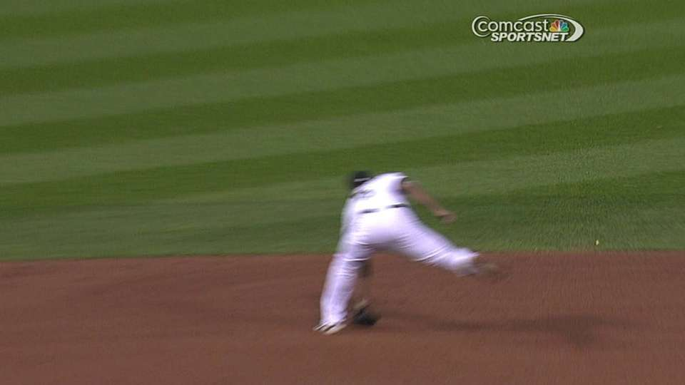 Semien's grab at short
