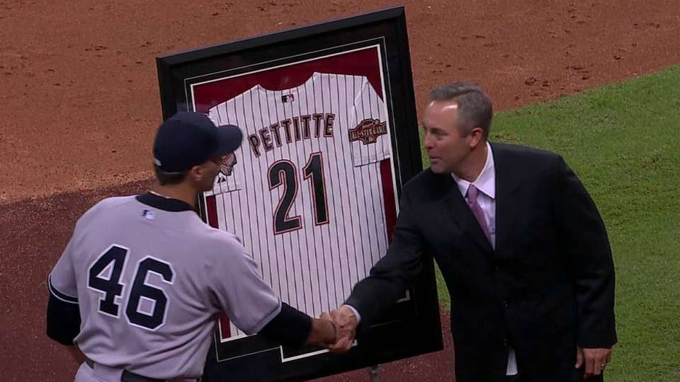 Astros honor Andy Pettitte