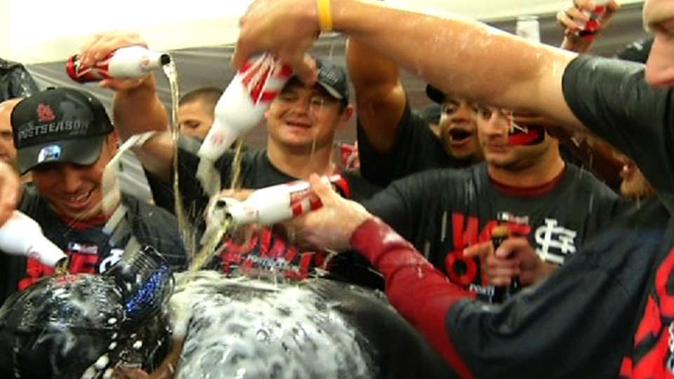 Cards celebrate NL Central title
