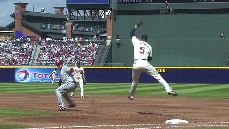 Freeman's sparkling double play