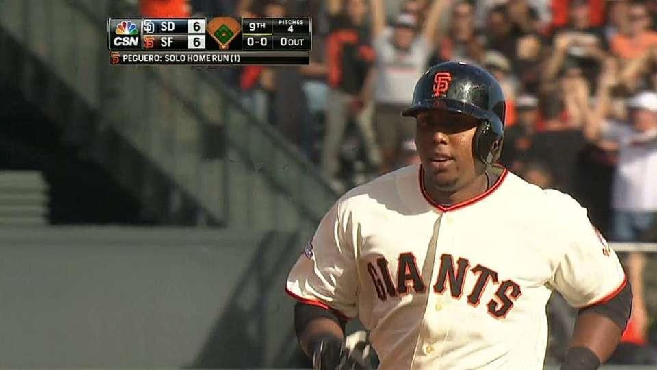 Peguero's game-tying homer