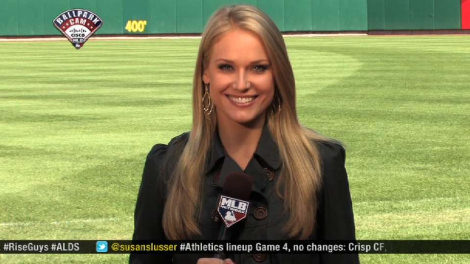 Heidi Watney On Pit Stl Game 5 10082013 Kansas City Royals