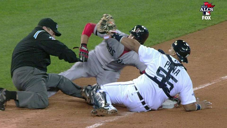 Middlebrooks' heads-up running