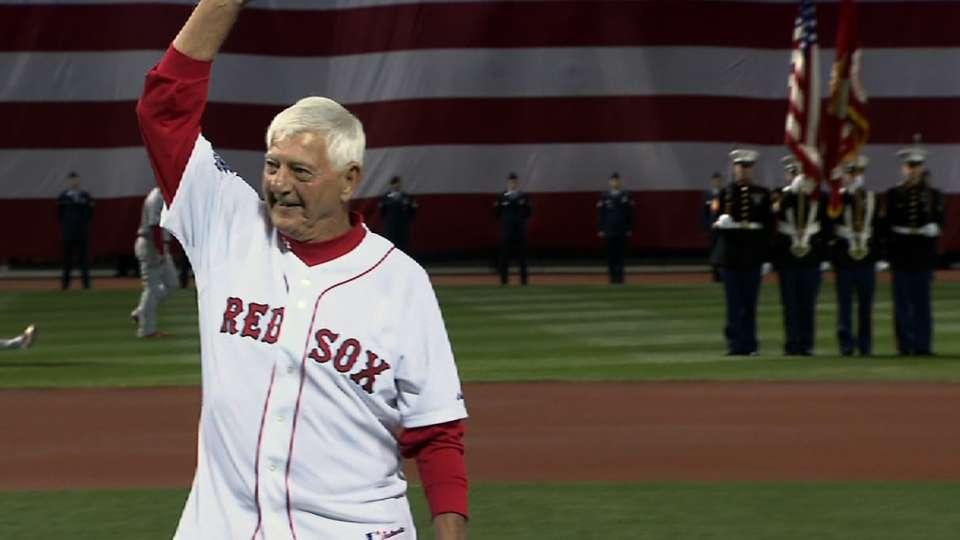 Yaz throws out first pitch