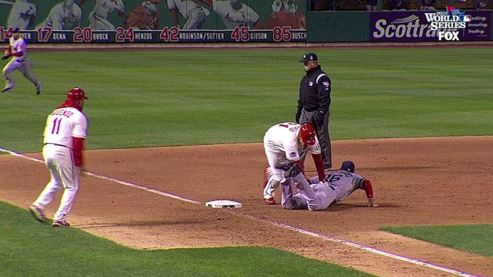 Cards walk off on obstruction