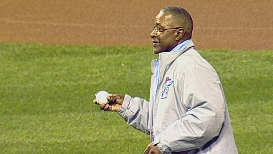 Wizard throws first pitch