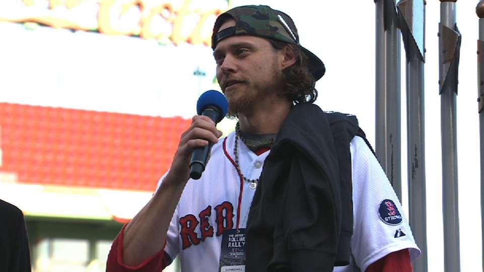 Buchholz talks at victory parade