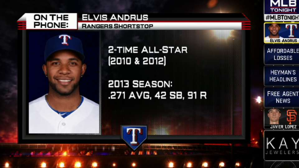 Andrus calls in to MLB Tonight