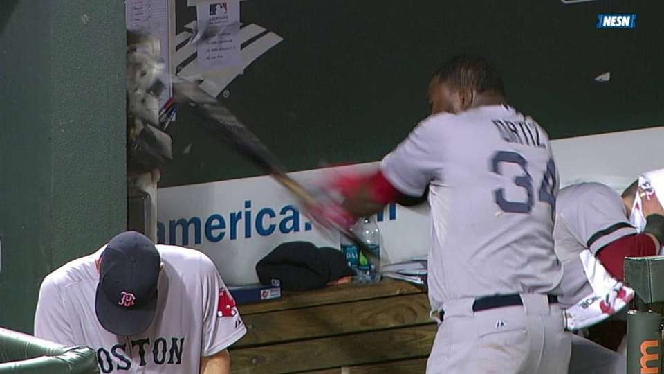 Ortiz smashes phone, gets tossed