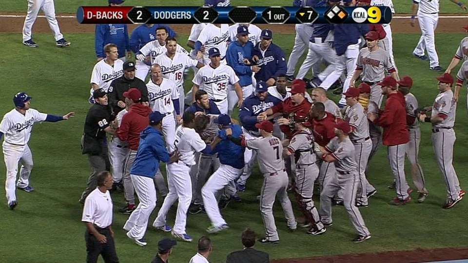 Benches clear in seventh