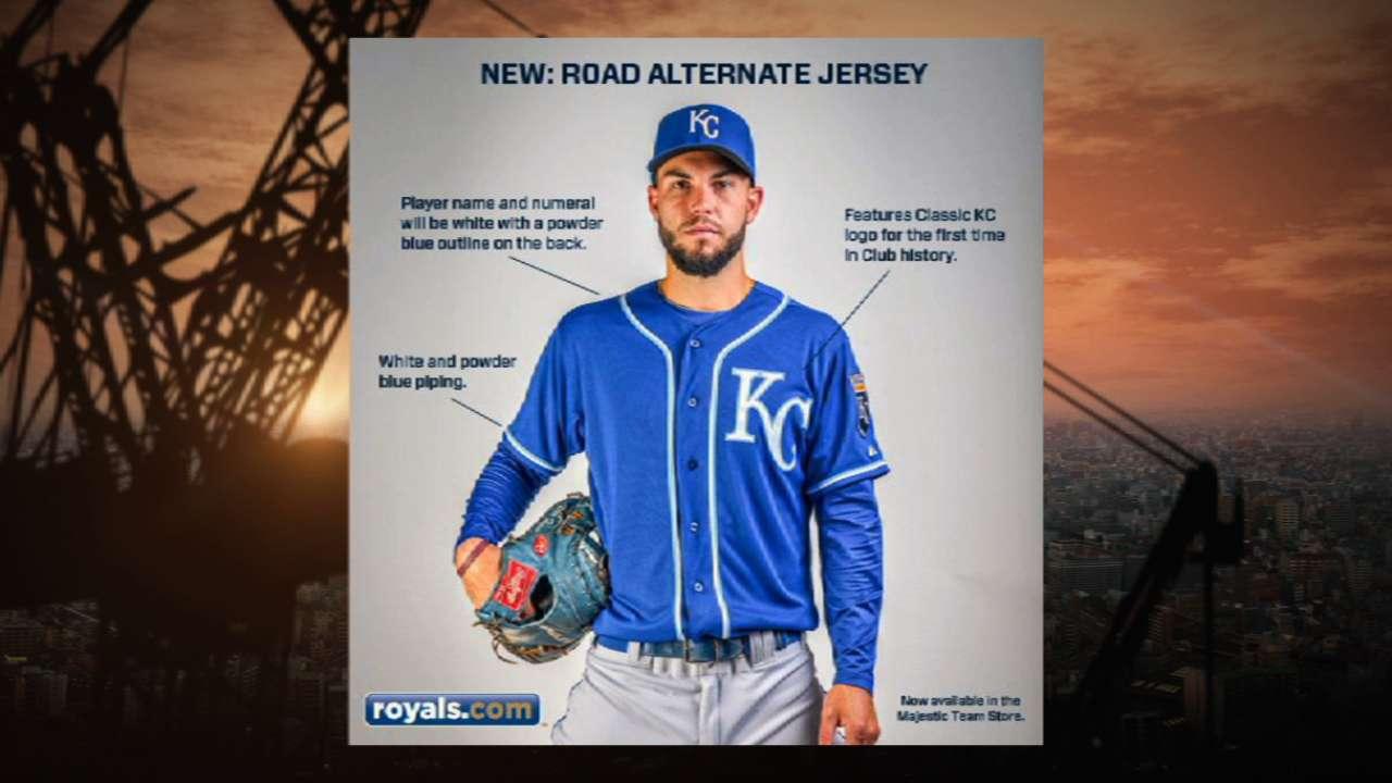 New Kansas City Royals uniforms enhance  KC  logo  98d369855
