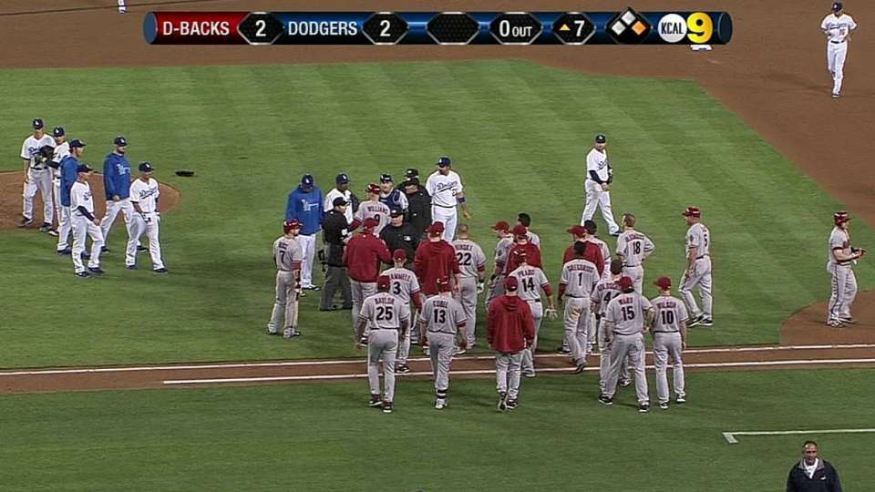 Montero hit, benches clear