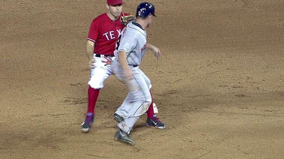 Rangers catch Stassi at second