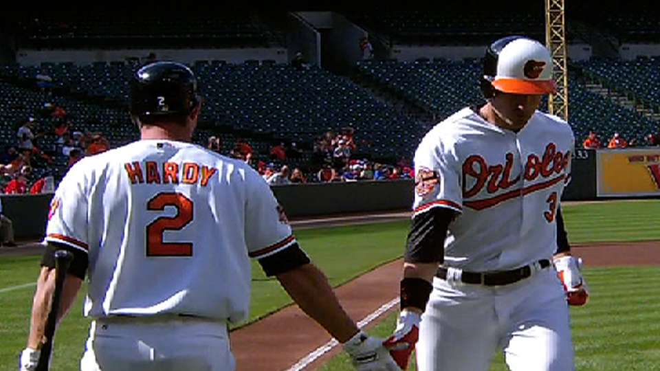 Orioles' three homers