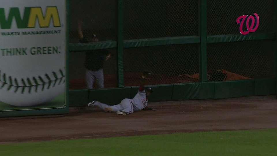 Bernadina's spectacular catch