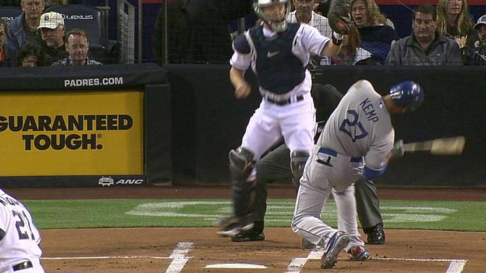 Marquis brushes back Kemp