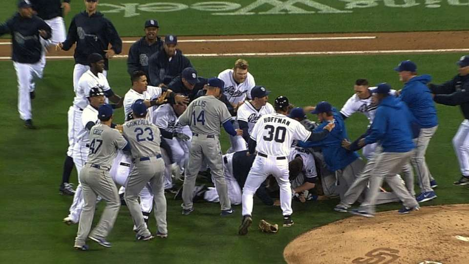 Benches clear at Petco
