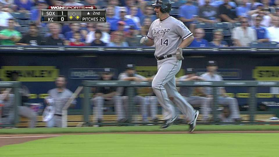 Konerko scores on passed ball