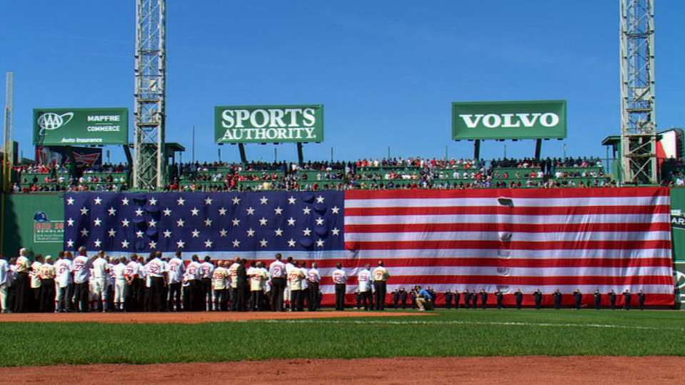 The first pitches at Fenway