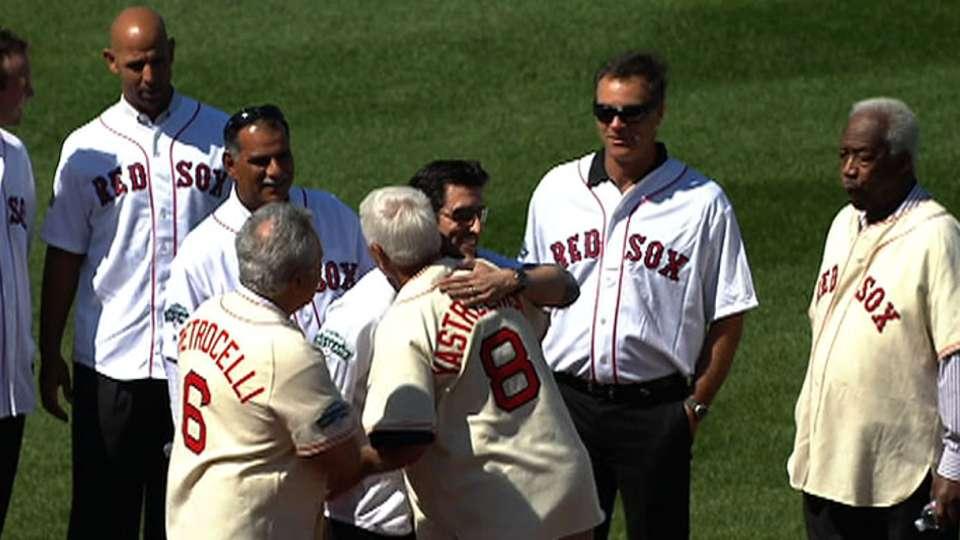 Red Sox legends join ceremonies