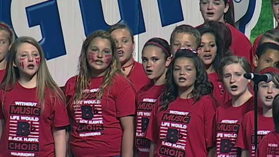 Black Hawk Middle School sings