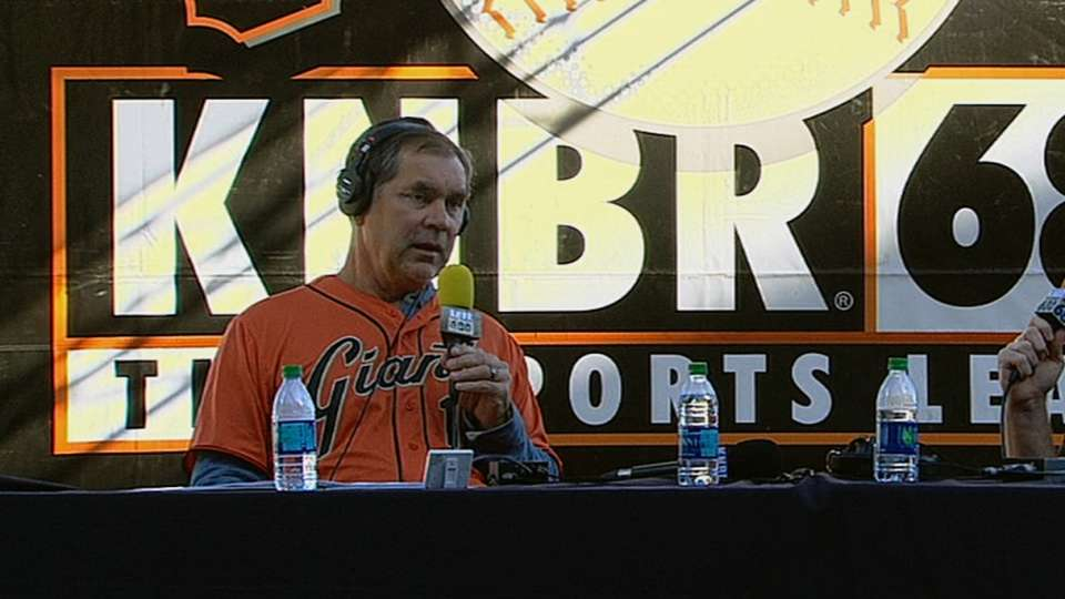 Bochy discusses collision rule